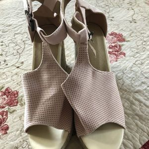 Pink wedges. Brand new. Never worn